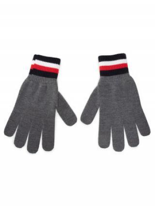 TOMMY HILFIGER Pánské rukavice Corporate Gloves AM0AM06586 Šedá 00