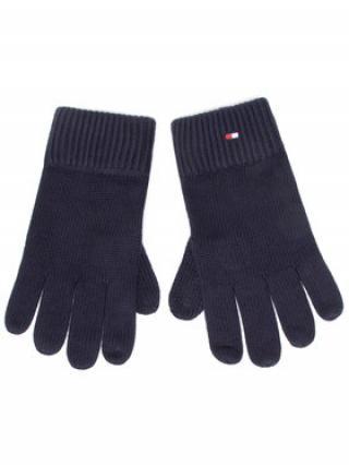 TOMMY HILFIGER Pánské rukavice Pima Cotton Gloves AM0AM06591 Tmavomodrá 00