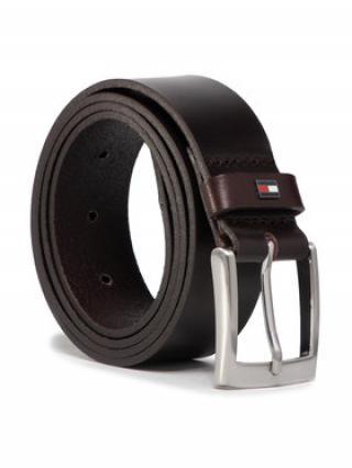 TOMMY HILFIGER Pánský pásek Adan Leather 3.5 AM0AM05878 Hnědá 90