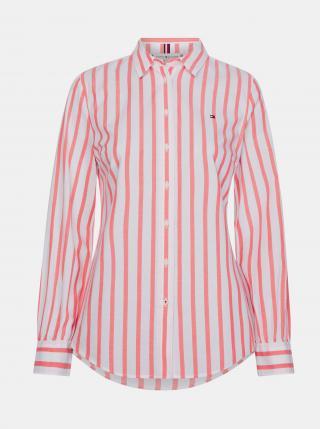 Tommy Hilfiger pruhovaná košile - XS dámské růžová XS