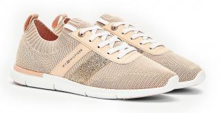 Tommy Hilfiger pudrové ponožkové tenisky Feminine Lightweight Sneaker Camo - 36 dámské pudrová 36