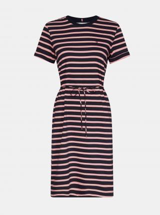 Tommy Hilfiger růžovo-modré pruhované basic šaty - XS dámské modrá XS