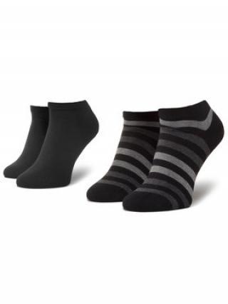Tommy Hilfiger Sada 2 párů nízkých ponožek unisex 382000001 Černá 39_42