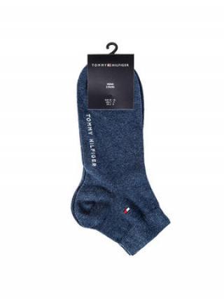 Tommy Hilfiger Sada 2 párů pánských nízkých ponožek 342025001 Modrá 39_42