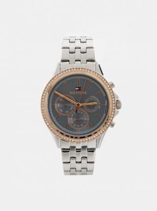 Tommy Hilfiger Silver Stainless Steel Watch dámské Stříbrná One size