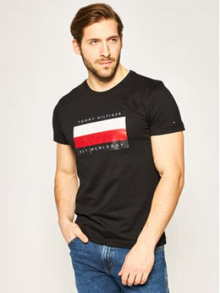 Tommy Hilfiger T-Shirt Crop Stripe Box Tee MW0MW13345 Černá Regular Fit pánské L