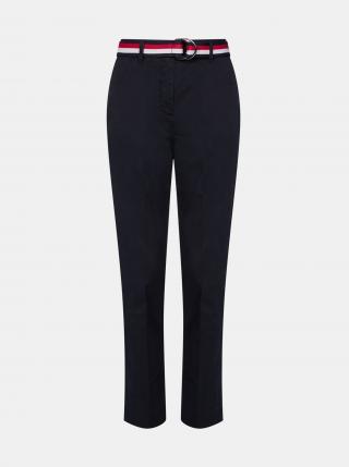 Tommy Hilfiger tmavě modré dámské slim fit kalhoty - M dámské modrá M