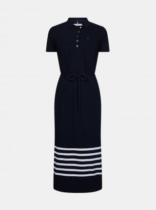 Tommy Hilfiger tmavě modré maxi šaty s pruhy - XS dámské modrá XS