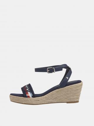 Tommy Hilfiger tmavě modré sandály na platformě - 36 dámské modrá 36