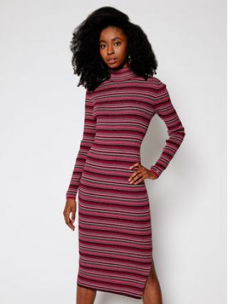 TOMMY HILFIGER Úpletové šaty Metallic WW0WW29375 Růžová Slim Fit dámské XS