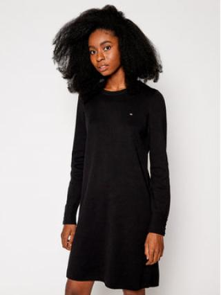 TOMMY HILFIGER Úpletové šaty Soft WW0WW29320 Černá Regular Fit dámské S
