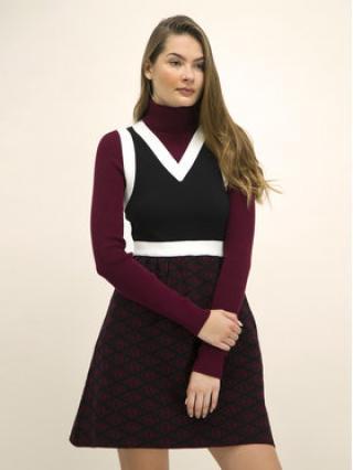 TOMMY HILFIGER Úpletové šaty ZENDAYA Monogram Print WW0WW26111 Barevná Regular Fit dámské 8