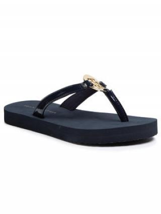 TOMMY HILFIGER Žabky Feminine Patent Beach Sandal FW0FW04803 Tmavomodrá dámské 39