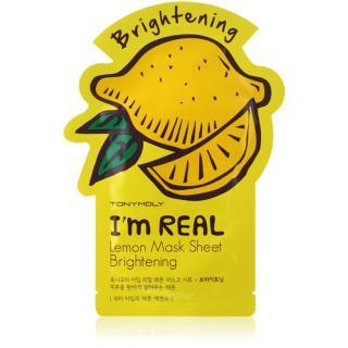 TONYMOLY Im REAL Lemon plátýnková maska s rozjasňujícím účinkem 1 ks dámské 1 ks