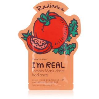 TONYMOLY Im REAL Tomato plátýnková maska pro rozjasnění a vitalitu pleti 1 ks dámské 1 ks