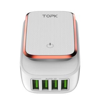 TOP Nástěnná LED nabíječka se 4 porty - 2 barvy Barva: růžová