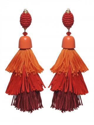 Top Secret LADYS EARRINGS Orange One size