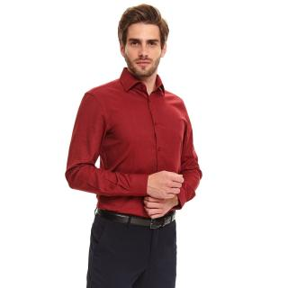 Top Secret MENS SHIRT LONG SLEEVE pánské Red 40.5