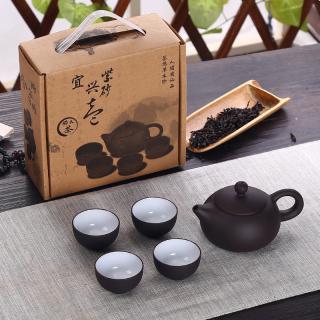 Tradiční čínská čajová sada 5 ks Barva: černá, Varianta: 1
