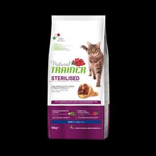 Trainer Natural Cat Sterilised sušená šunka 10kg