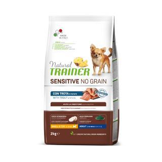 Trainer Natural Sensitive dog NO GRAIN MINI pstruh 2kg