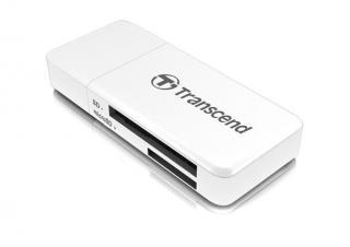 Transcend RDF5 USB 3.0 čtečka paměťových karet SDHC , bílá