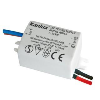 Transformátor elektronický Kanlux ADI 350 1-3W 350mA DC 01440