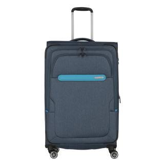 Travelite Cestovní kufr Madeira L Navy/Blue 86/99 l tmavě modrá