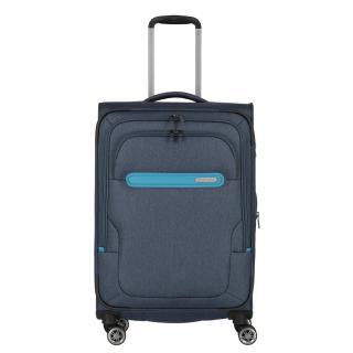 Travelite Cestovní kufr Madeira M Navy/Blue 60/71 l tmavě modrá