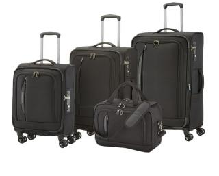Travelite CrossLITE 4w S,M,L Black – sada 3 kufrů   BB černá