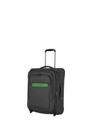 Travelite Kabinový cestovní kufr Madeira 2w S Anthracite/Green 41/47 l šedá