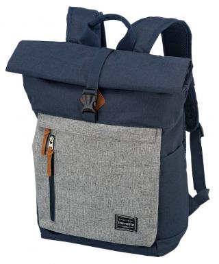 Travelite Městský batoh Basics Roll-up Navy/Grey 35 l šedá