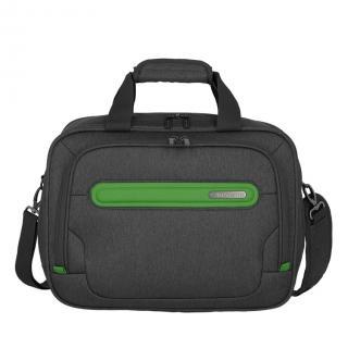 Travelite Palubní taška Madeira Boardbag Anthracite/Green 19 l tmavě šedá