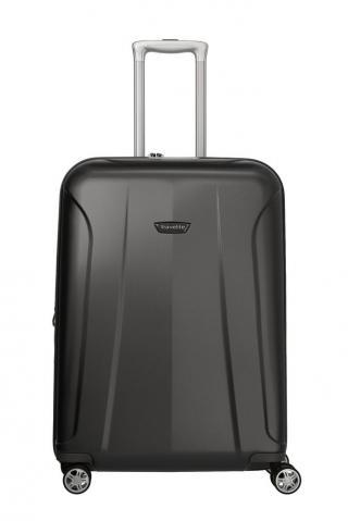 Travelite Skořepinový cestovní kufr Elbe 4w M Anthracite 73/84 l šedá
