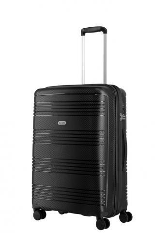 Travelite Skořepinový cestovní kufr Zenit M Black 72/77 l černá