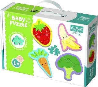 TREFL Puzzle baby Zelenina a ovoce 2 ks v krabici 27 x 19 x 6 cm 1  mix barev