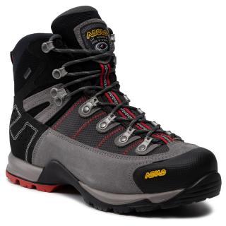 Trekingová obuv ASOLO - Fugitive Gtx Mm GORE-TEX 0M3400 900 Cendre/Gunmetal/Red pánské Šedá 42