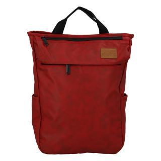 Trendy a stylový tmavě červený batoh - New Rebels Genderus Next dámské
