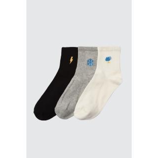 Trendyol 3 Black Knitted Socks dámské One size