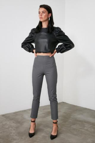 Trendyol Anthracite Basic Pants dámské 34