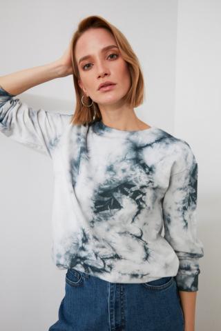 Trendyol Anthracite Batic Knitted Sweatshirt dámské XS