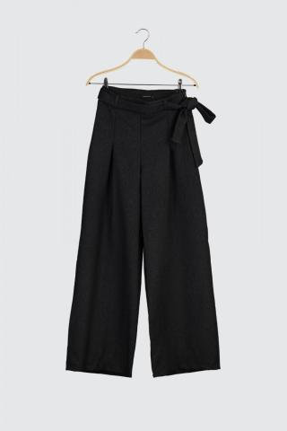 Trendyol Anthracite Belt Detailed Trousers dámské 34