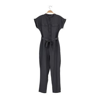 Trendyol Anthracite Belted Jumpsuit dámské 38