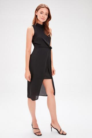 Trendyol Anthracite Binding Detailed Dress dámské 34