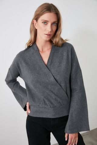 Trendyol Anthracite Cruise Knitted Blouse dámské XS