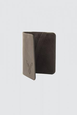 Trendyol Anthracite Mens Genuine Leather Card Wallet pánské One size