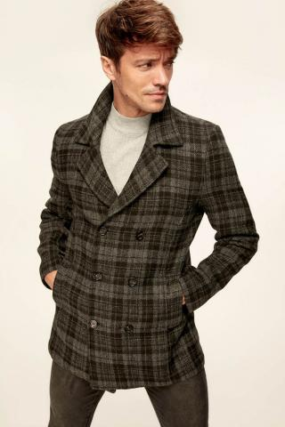 Trendyol Anthracite Mens Jacket-Plaid Double Breasted pánské Grey | Anthracite S