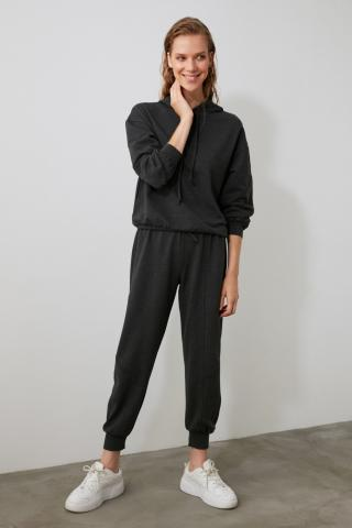 Trendyol Anthracite Sewing Detailed Knitted Tracksuit Set dámské XS