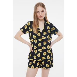 Trendyol Avocado Patterned Knitted Pajamas Set dámské Very colorful S