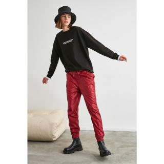 Trendyol Basic Jogger Knitted Tracksuit bottom dámské Burgundy M